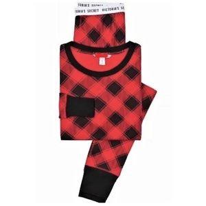 XL M Victoria secret plaid CHECK fireside pajamas